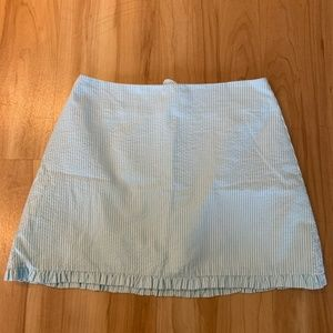 Lilly Pulitzer light blue seersucker skirt